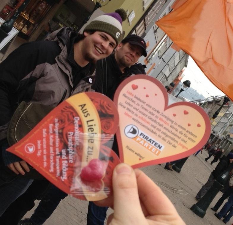 Diese Flyer wurden heute überall in Baden-Württemberg von fleißigen Piraten verteilt. Foto: CC-BY 3.0 Konstantin Görlich