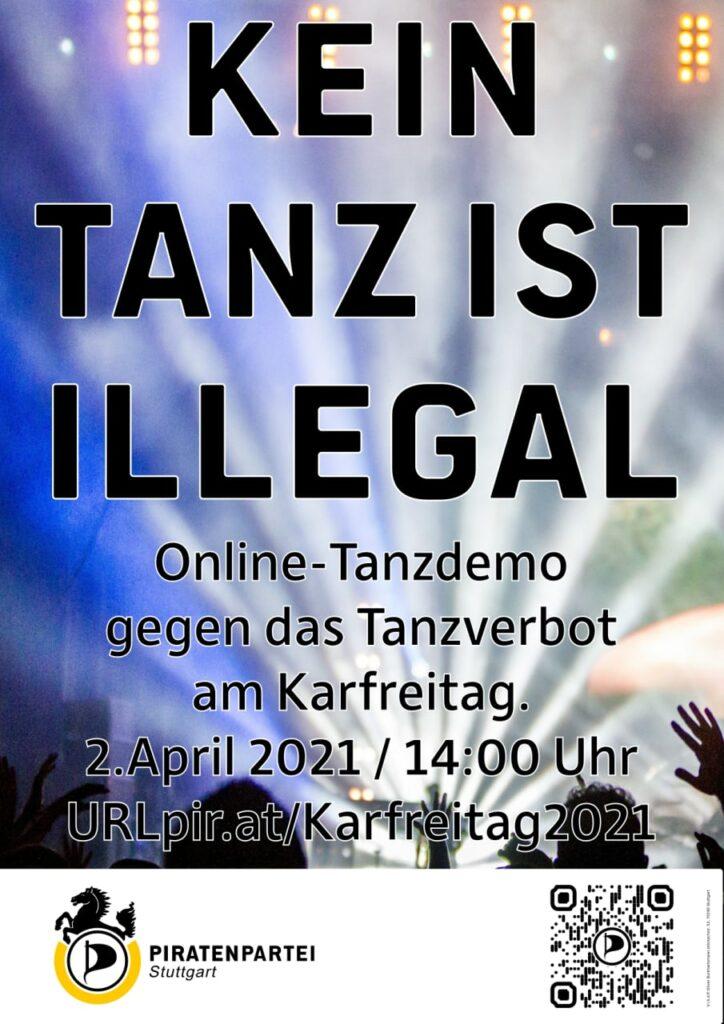 Kein Tanz ist illegal - Online Tanzdemo